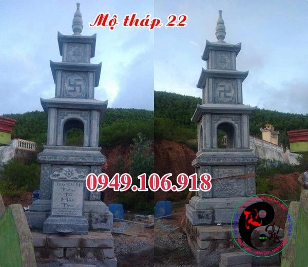 Mộ tháp đá bằng đá 22