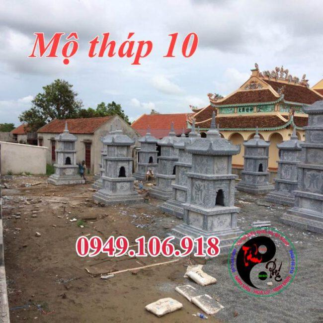 Mộ tháp phật giáo bằng đá 10