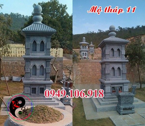 Mộ tháp phật giáo bằng đá 11