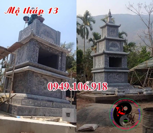 Mộ tháp phật giáo đẹp bằng đá 13
