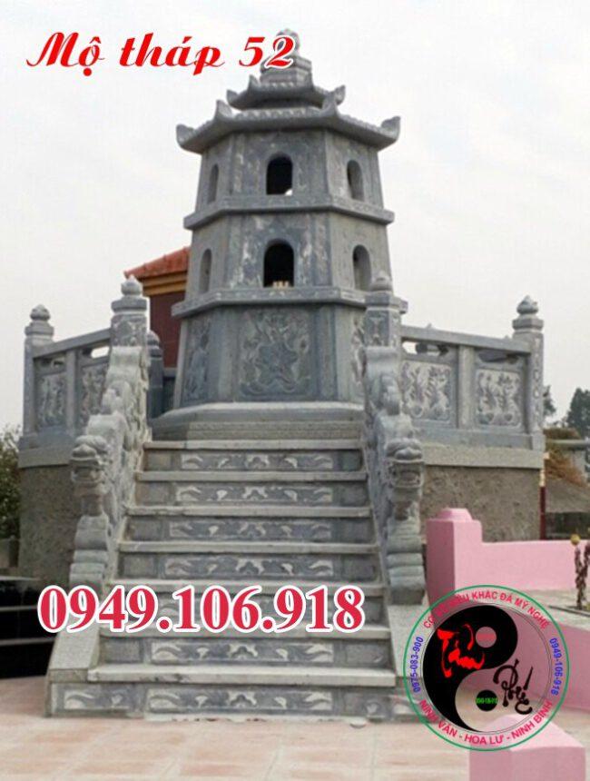 Xây mẫu mộ tháp đẹp bằng đá 52