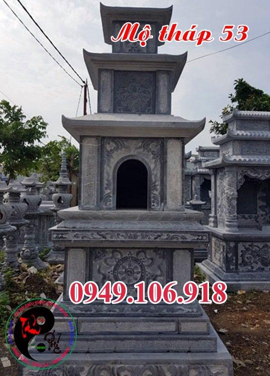 Xây mẫu mộ tháp đẹp bằng đá 53