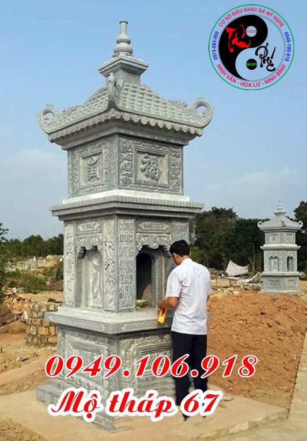 Xây mẫu mộ tháp phật giáo bằng đá đẹp 67