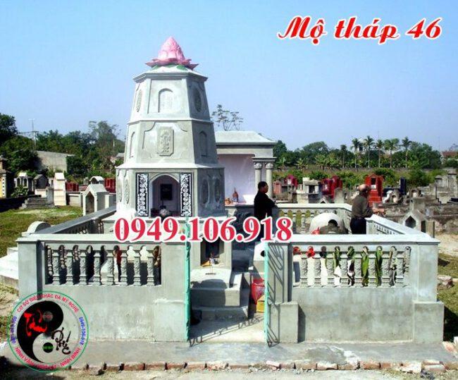 Xây mộ tháp bằng đá 46