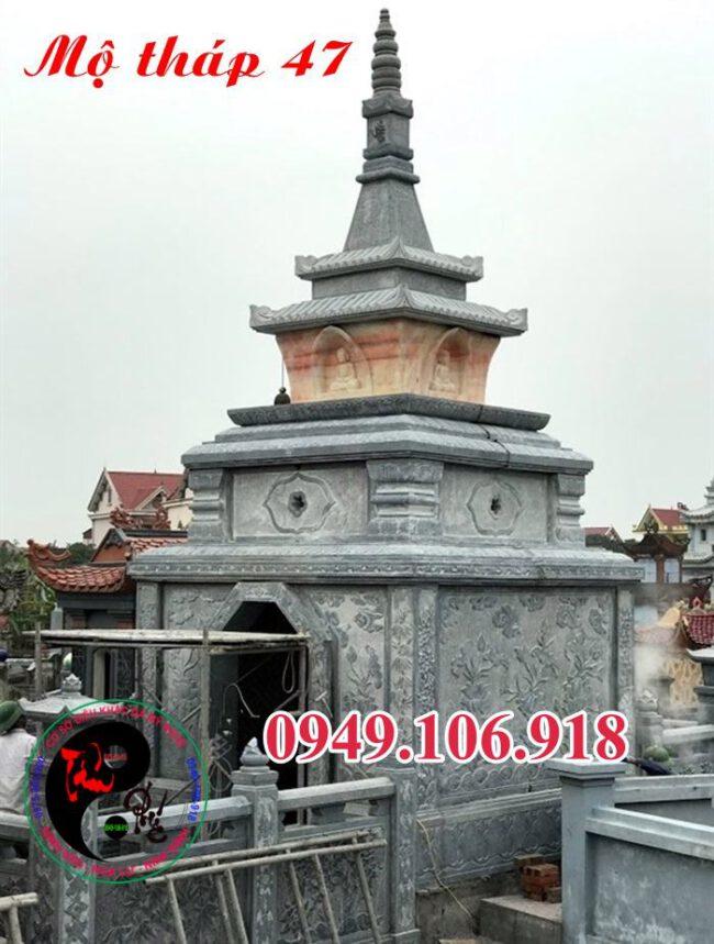 Xây mộ tháp bằng đá 47