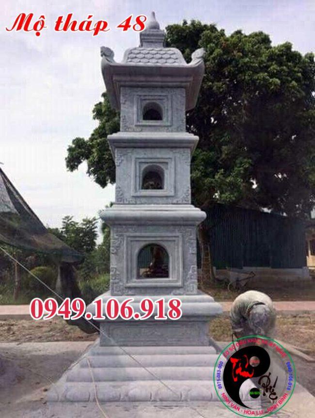 Xây mộ tháp bằng đá 48