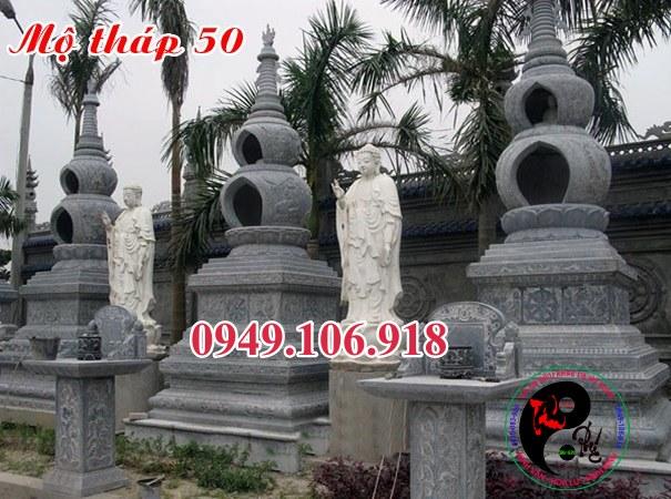 Xây mộ tháp đẹp bằng đá 50
