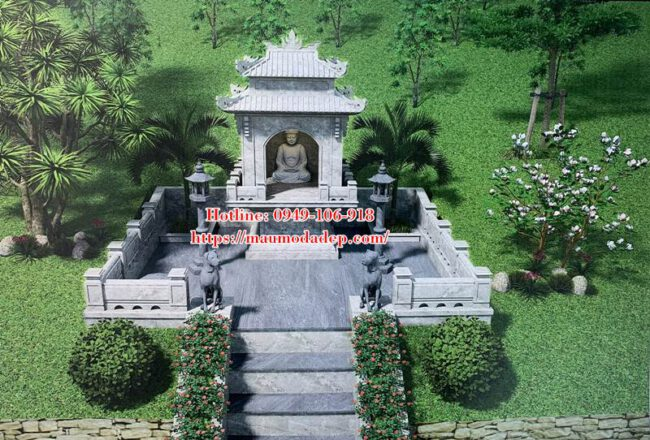 Bản vẽ 3D kích thước xây miếu thờ quan Thần Linh