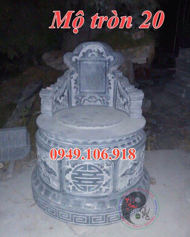 Lăng mộ đá tròn đẹp bằng đá 20