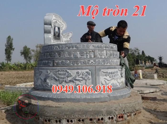 Lăng mộ đá tròn đẹp bằng đá 21