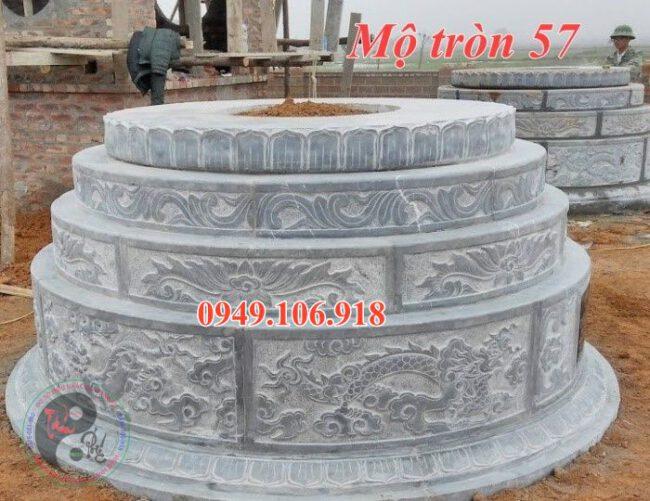Lăng mộ hình tròn đẹp bằng đá 57