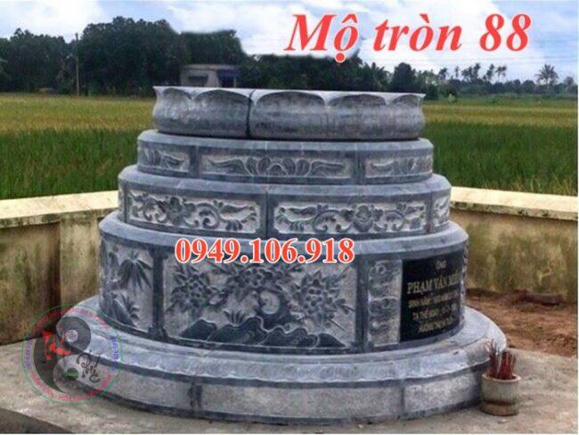 Lăng mộ hình tròn đẹp bằng đá 88