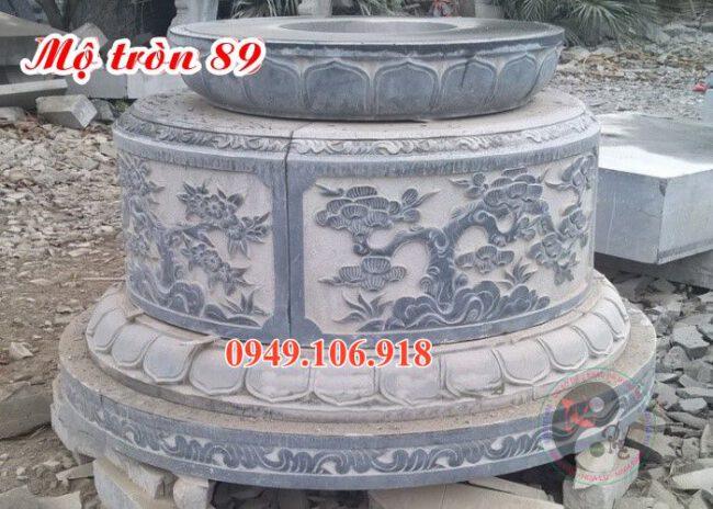 Lăng mộ hình tròn đẹp bằng đá 89
