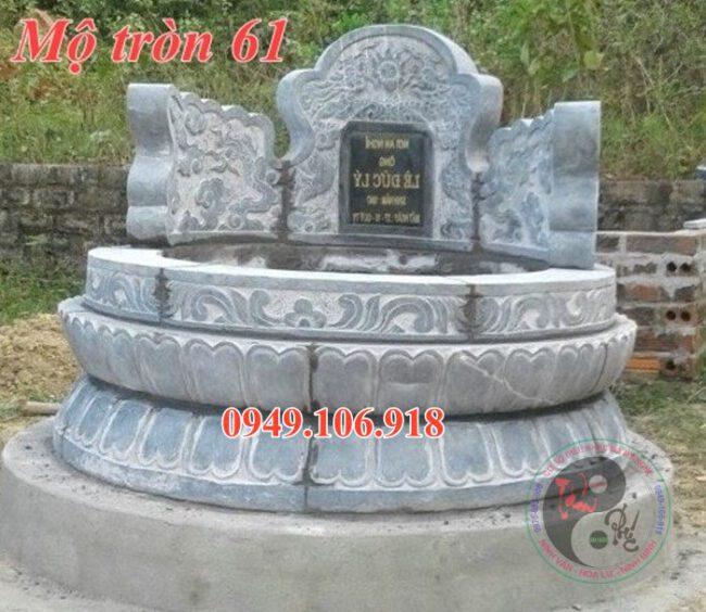 Lăng mộ tròn bằng đá đẹp 61