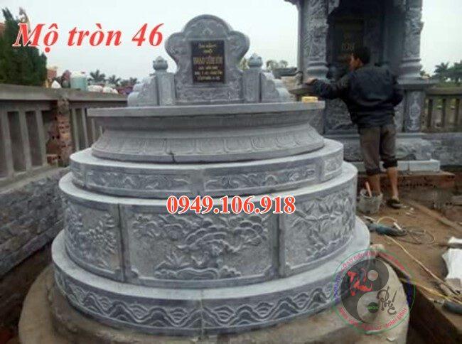 Lăng mộ tròn đẹp bằng đá 46