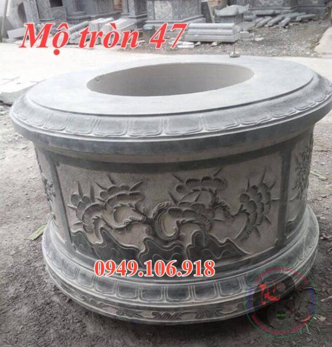 Lăng mộ tròn đẹp bằng đá 47