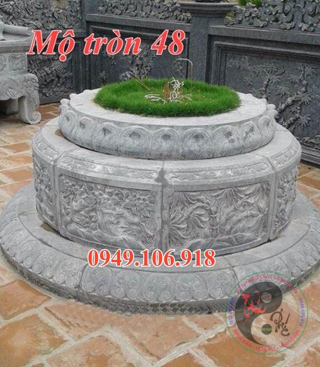 Lăng mộ tròn đẹp bằng đá 48