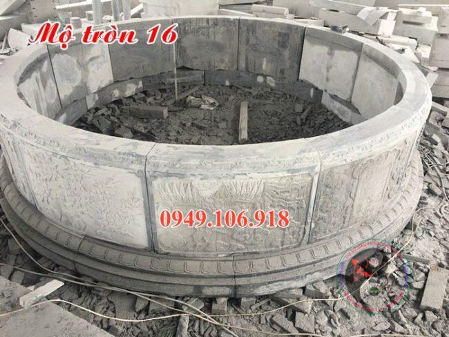 Lắp đặt khu lăng mộ đá tròn tại mỹ đức hà tây 16