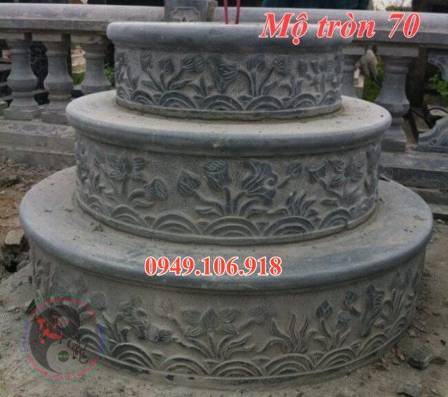 Mẫu lăng mộ hình tròn đẹp bằng đá 70
