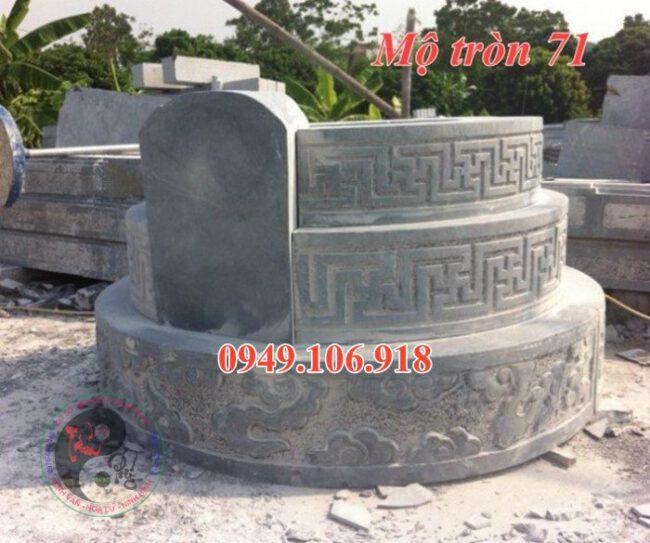 Mẫu lăng mộ hình tròn đẹp bằng đá 71