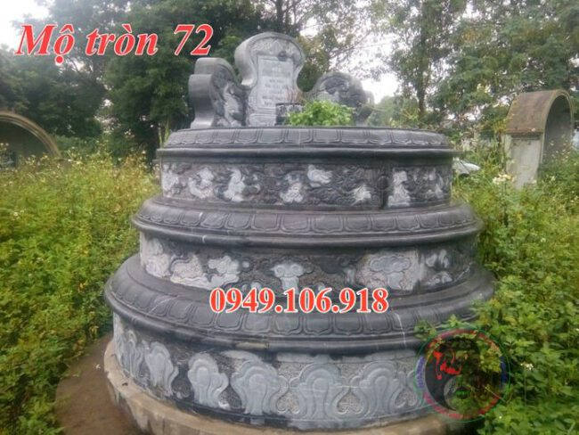 Mẫu lăng mộ hình tròn đẹp bằng đá 72