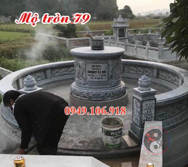 Mẫu lăng mộ tròn đẹp bằng đá 79