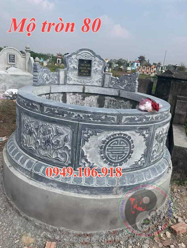 Mẫu lăng mộ tròn đẹp bằng đá 80