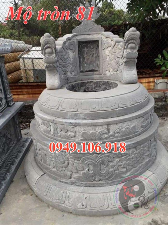Mẫu lăng mộ tròn đẹp bằng đá 81
