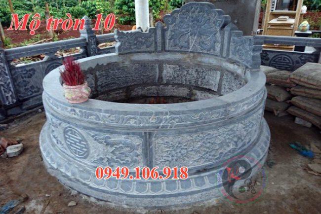 Mẫu mộ đá tròn đẹp bằng đá 10