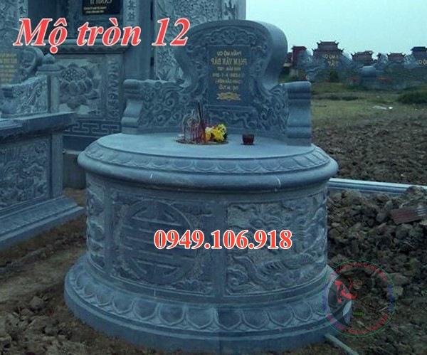 Mẫu mộ đá tròn đẹp bằng đá 12