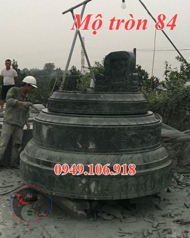 Mẫu mộ đá tròn đẹp bằng đá 84