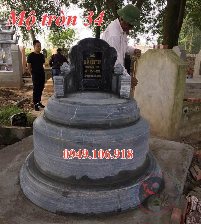 Mẫu mộ tròn bằng đá 34