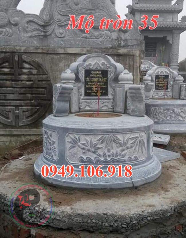 Mẫu mộ tròn bằng đá 35