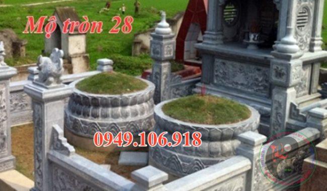 Mẫu mộ tròn đẹp bằng đá 28