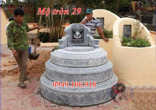 Mẫu mộ tròn đẹp bằng đá 29