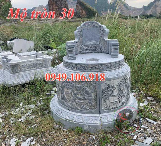 Mẫu mộ tròn đẹp bằng đá 30