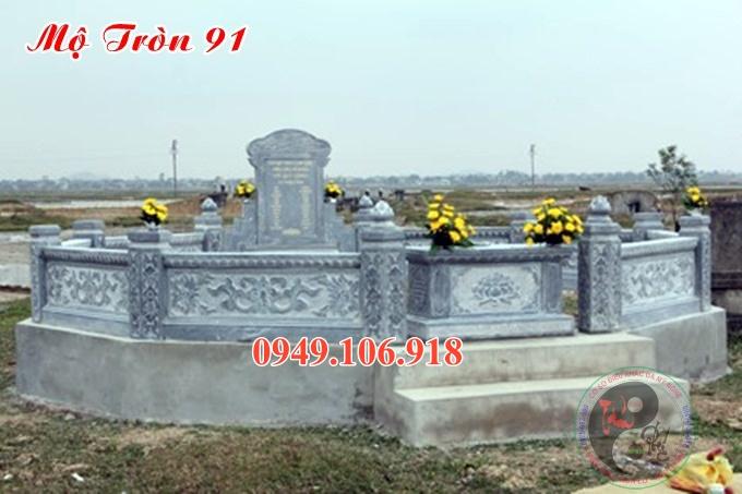 Mẫu mộ tròn phong thuỷ bằng đá đẹp 91