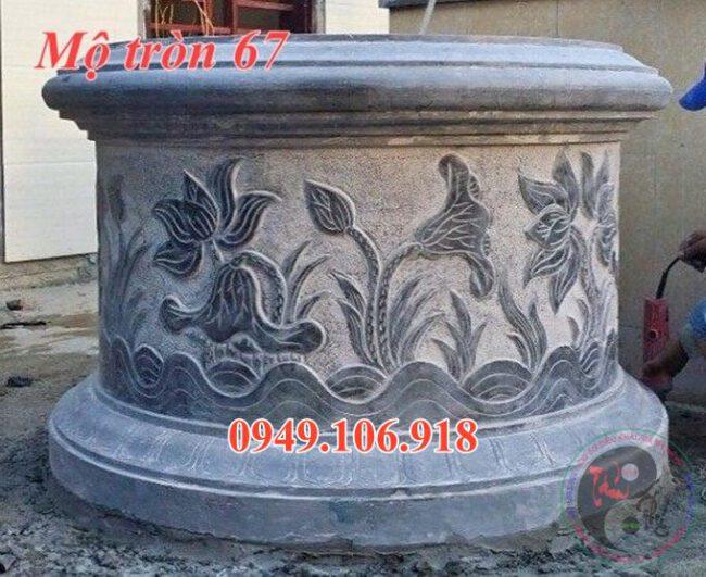 Mẫu mộ tròn phong thủy đẹp bằng đá 67