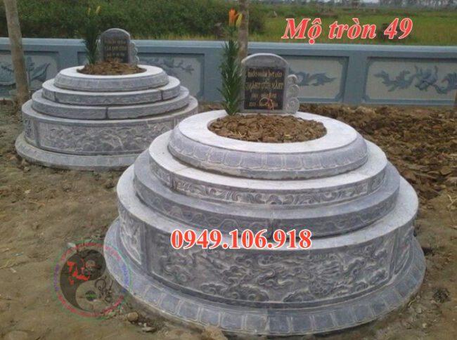 Mẫu mộ xây tròn đẹp bằng đá 49