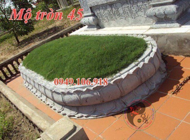 Mộ đá hình tròn đẹp bằng đá 45