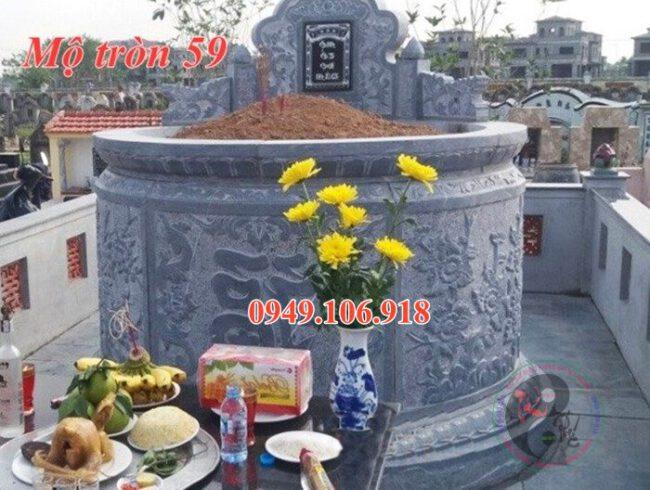 Mộ tròn mộ dài đẹp bằng đá 59