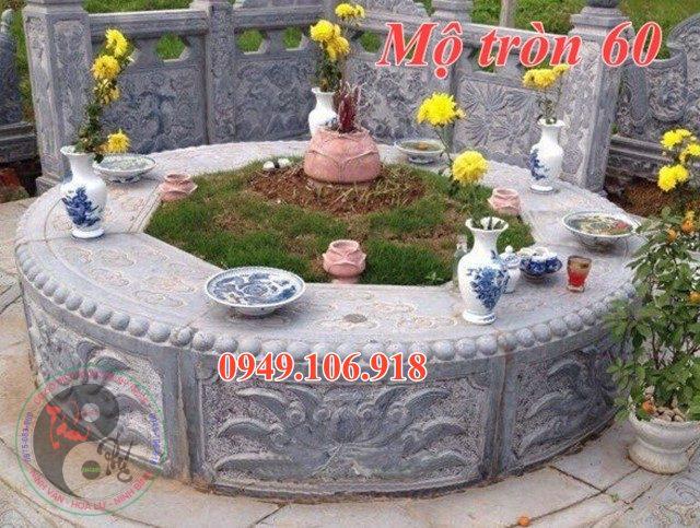 Mộ tròn mộ dài đẹp bằng đá 60