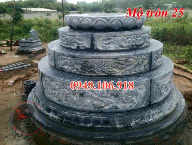Mộ tròn phong thủy đẹp bằng đá 25