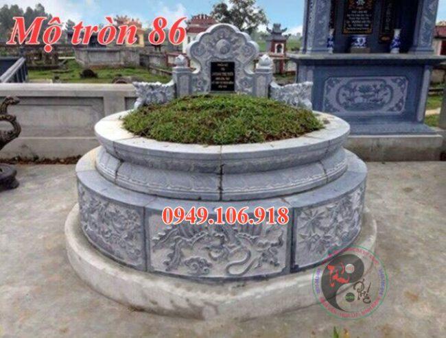 Mộ tròn phong thủy đẹp bằng đá 86