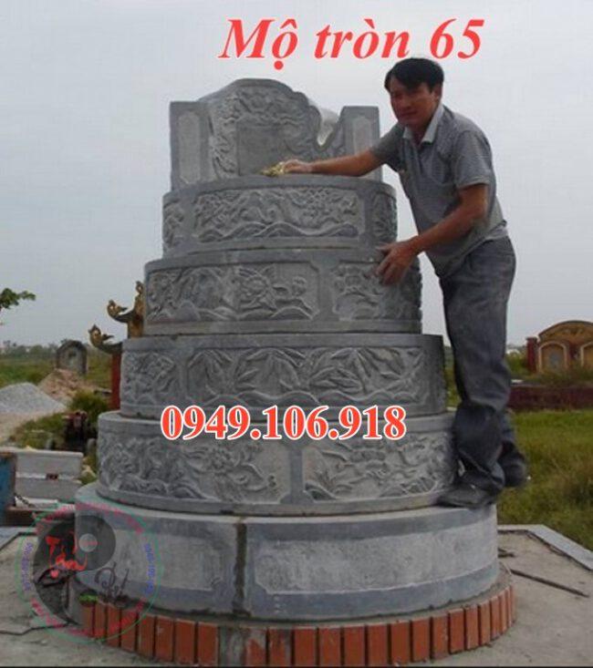 Mộ xây tròn đẹp bằng đá 65