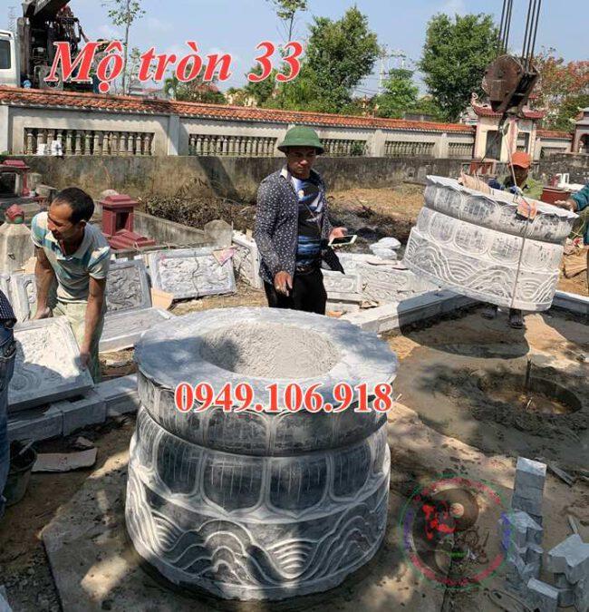 Xây dựng lắp đặt khu lăng mộ đá tròn đẹp tại nghệ an 33