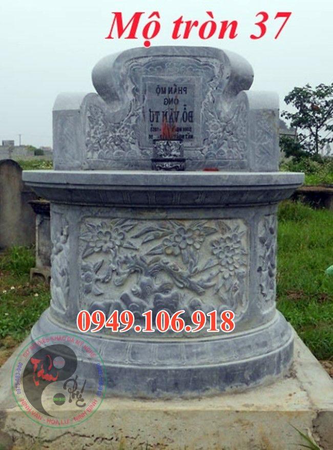 Xây mộ hình tròn bằng đá đẹp 37