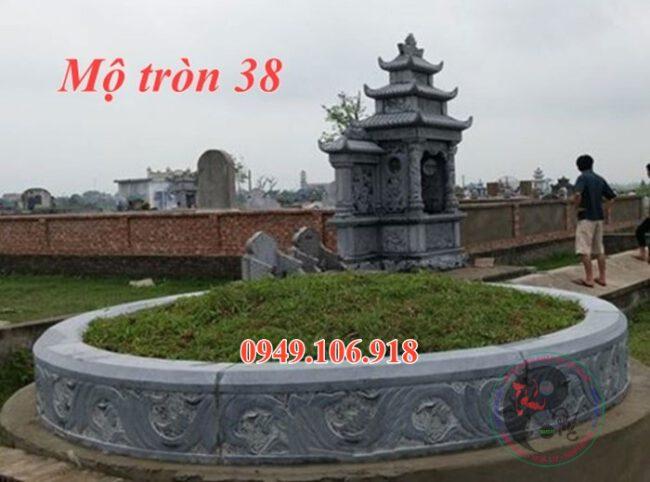 Xây mộ hình tròn bằng đá đẹp 38