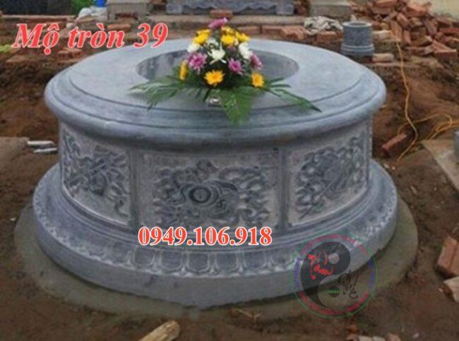 Xây mộ hình tròn bằng đá đẹp 39