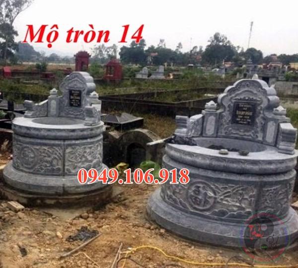 Xây mộ hình tròn đẹp bằng đá 14